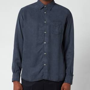 Officine Generale Men's Benoit Dyed Tencil Shirt - Dark Navy