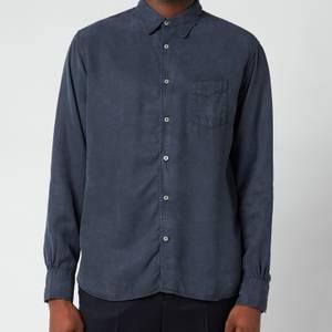 Officine Generale Men's Benoit Dyed Tencil Shirt - Dark Navy