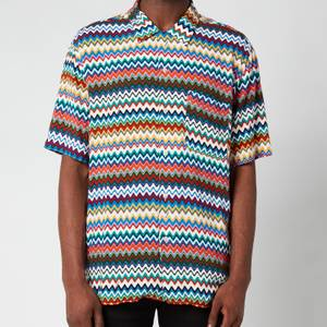Missoni Men's Classic Neckline Short Sleeve Shirt - Multi