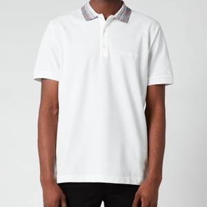 Missoni Men's Contrast Collar Pique Polo Shirt - White