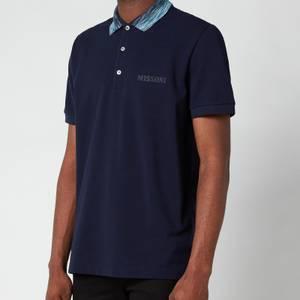 Missoni Men's Contrast Collar Pique Polo Shirt - Navy