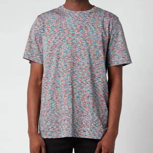 Missoni Men's Stripe Jersey Crewneck T-Shirt - Blue