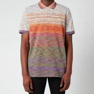 Missoni Men's Gradient Stripe Jersey Pique Polo Shirt - Multi
