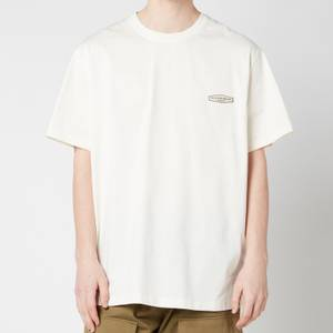 Wooyoungmi Men's Basic Back Logo T-Shirt - White/Ivory