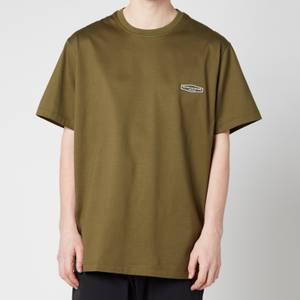 Wooyoungmi Men's Basic Back Logo T-Shirt - Khaki