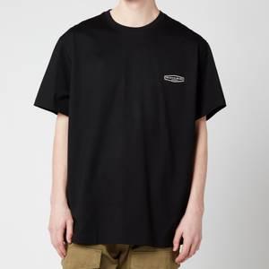 Wooyoungmi Men's Basic Back Logo T-Shirt - Black/White