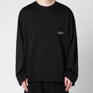 Wooyoungmi Men's Back Logo Long Sleeve Top - Black