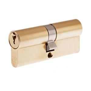 Yale Kitemarked Euro Double Cylinder - 35:10:35 (80mm) - Brass Finish