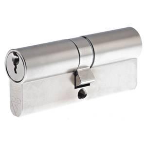 Yale Kitemarked Euro Double Cylinder - 35:10:35 (80mm) - Nickel Finish