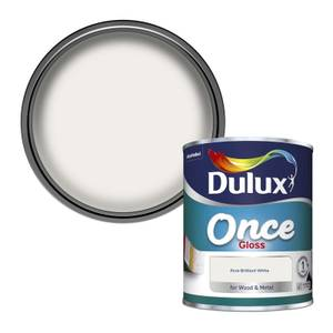 Dulux Once Pure Brilliant White - Gloss Paint - 750ml
