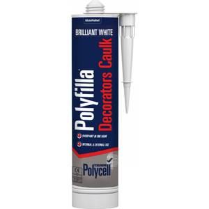 Polycell Trade Decorators Caulk White Cartridge - 380ml