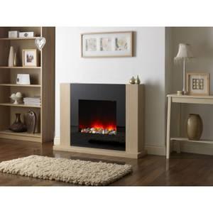 Suncrest Mirage Electric Fireplace Suite - Oak