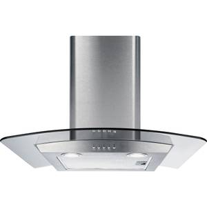 CDA ECP62SS Curved Glass Chimney Cooker Hood - 60cm - Stainless Steel