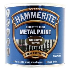 Hammerite Copper - Exterior Smooth Metal Paint - 250ml