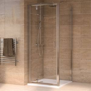 Aqualux Pivot Door 800 x 800mm Shower Enclosure and Tray Package