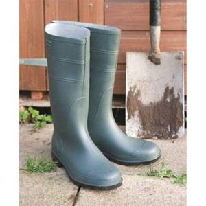 Traditional PVC Boots Size 4 Green