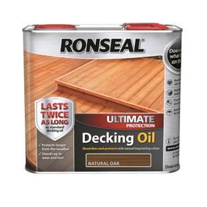 RONSEAL ULT PROTECTION DECK OIL NAT OAK