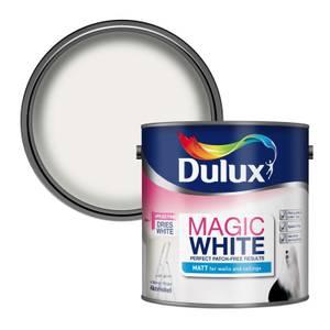 Dulux Pure Brilliant White - Magic Matt Emulsion Paint - 2.5L