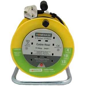 Masterplug 4 Socket Cable Reel 10m Yellow