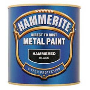 Hammerite Black - Hammered Exterior Metal Paint - 2.5L