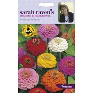 Sarah Ravens Zinnia Sprite Mixed Seeds