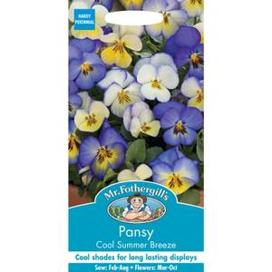 Mr. Fothergill's Pansy Cool Summer Breeze Seeds