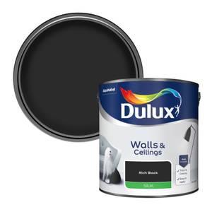 Dulux Rich Black - Silk Paint - 2.5L