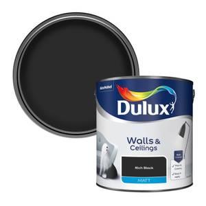 Dulux Rich Black - Matt Paint - 2.5L