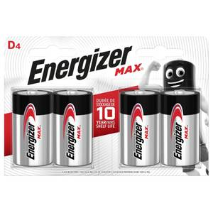 Energizer MAX Alkaline D Batteries - 4 Pack