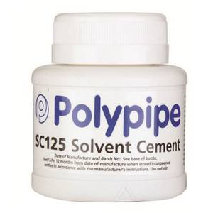 Polypipe Solvent Cement Tin & Brush - 125ml