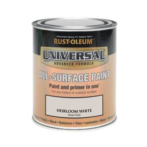 Rust-Oleum Universal All Surface Gloss Paint & Primer - Heirloom White - 750ml