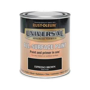 Rust-Oleum Universal All Surface Gloss Paint & Primer - Espresso - 750ml