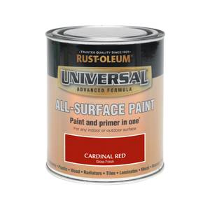 Rust-Oleum Universal All Surface Gloss Paint & Primer - Cardinal Red - 750ml
