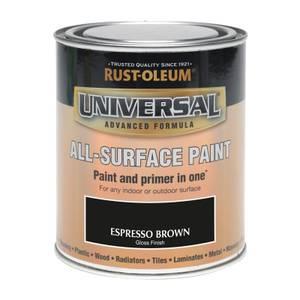 Rust-Oleum Universal All Surface Gloss Paint & Primer - Espresso - 250ml