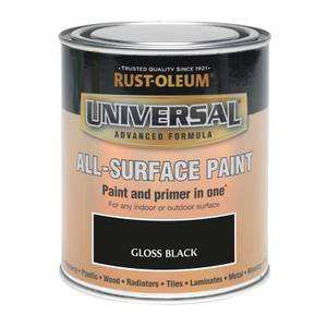 Rust-Oleum Universal All Surface Gloss Paint & Primer - Black - 250ml