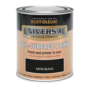 Rust-Oleum Universal All Surface Satin Paint & Primer - Black - 250ml