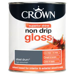 Crown Steel Drum - Non Drip Gloss Paint - 750ml