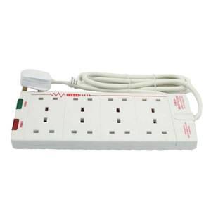 Masterplug 8 Socket Surge Extension Lead 2m White
