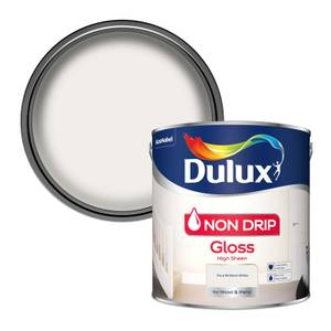 Dulux Pure Brilliant White - Non Drip Gloss Paint - 2.5L