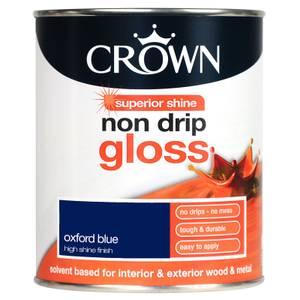 Crown Oxford Blue - Non Drip Gloss Paint - 750ml