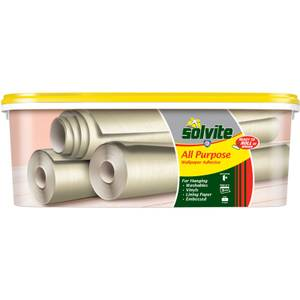 Solvite All Purpose Wallpaper Adhesive - 5 Roll Ready Mix Bucket