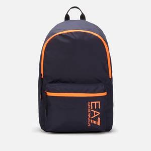 EA7 Men's Train Core Backpack - Night Blue/Orange