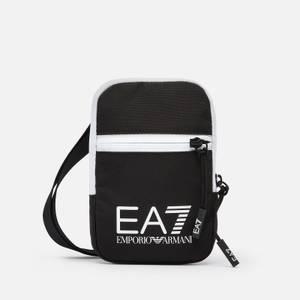 EA7 Men's Train Core Mini Pouch Cross Body Bag - Black/White