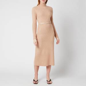 Ted Baker Women's Conniey Funnel Neck Chunky Knitted Midi Dress - Camel