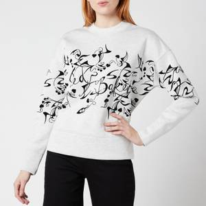 Ted Baker Women's Lyhndi Bergamot Flocked Sweatshirt - Cream