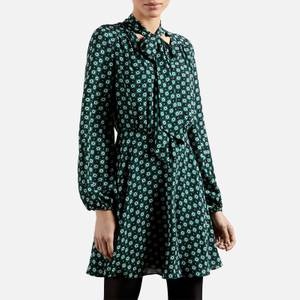 Ted Baker Women's Dolley Rocoo Printed Mini Dress - Dark Green