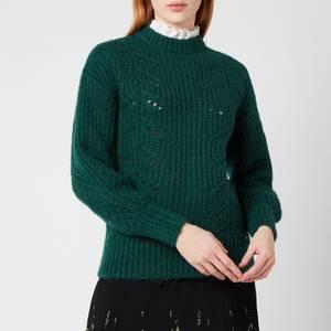 Ted Baker Women's Molliey Chunky Lace Detail Mockable - Dark Green