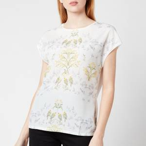 Ted Baker Women's Sonjja Papyrus Printed Woven Front T-Shirt - Cream