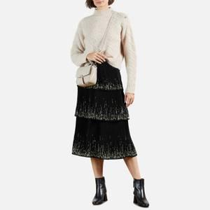 Ted Baker Women's Carsena Papyrus Tiered Pleated Midi Skirt - Black