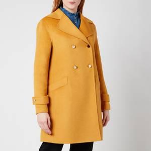 Ted Baker Women's Blankaa Collared Long Pea Coat - Yellow